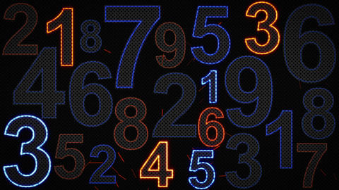 glowing numbers loopable background Animation