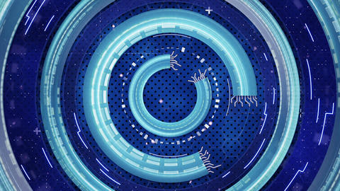 blue hi-tech abstract loopable background Animation