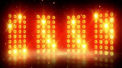 yellow stage lights loopable background Stock Video Footage