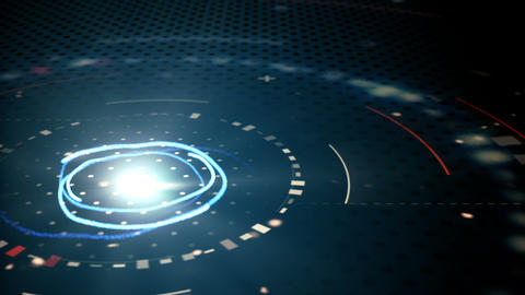 blue abstract techno circles loopable background Animation