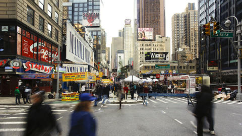 View of Broadway looking towards Times Square on m Footage