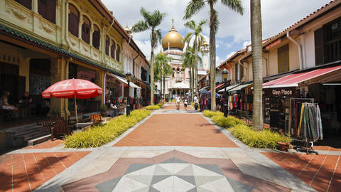 The Sultan Mosque in Kampong Glam, also known as t Footage