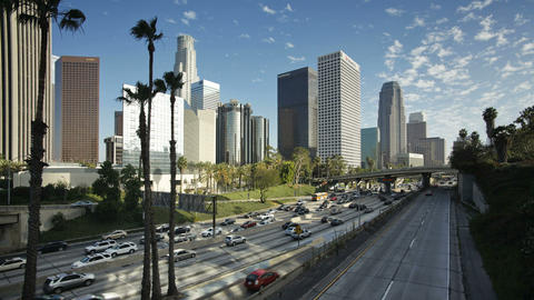 T/lapse Freeway, Figueroa at Wiltshire, Downtown,  Footage