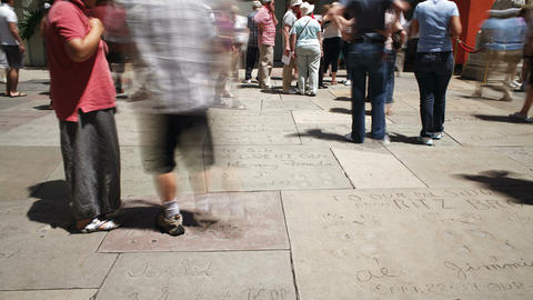 Hollywood Boulevard, Hollywood Walk Of Fame, Los A stock footage