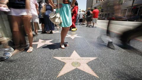 Hollywood Boulevard, Hollywood Walk of Fame, Los A Footage