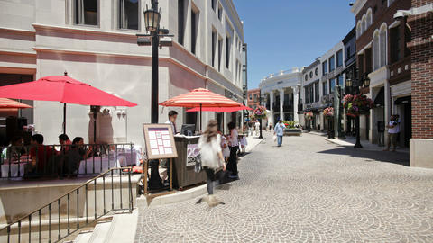 Rodeo Drive, Beverly Hills, Los Angeles, Californi Footage