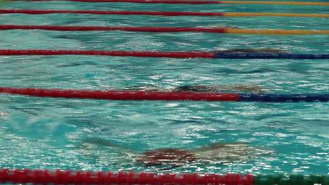 swimming underwater Footage