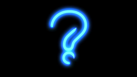 Blue Question Mark stock footage