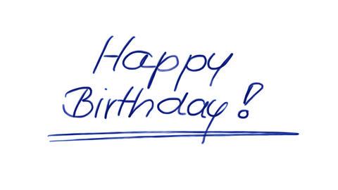 Ballpoint Happy Birthday Animation