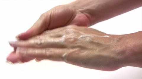 Hand Lotion stock footage