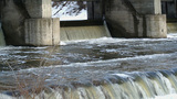 Water Reset On Old Hydroelectric Power Station In stock footage