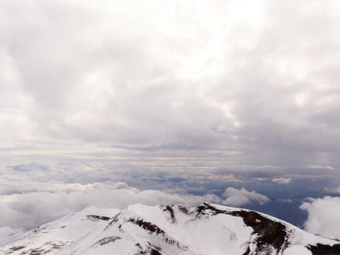 Crater Mount Etna. Sicily, Italy. Time Lapse. 640x Footage