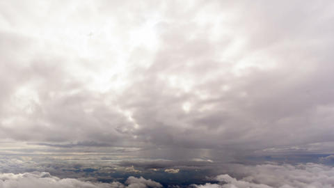 Between clouds. Sicily, Italy. Time Lapse. 1280x72 Footage