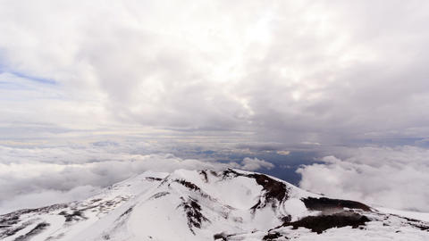 View from Mount Etna. Sicily, Italy. Time Lapse. 1 Footage
