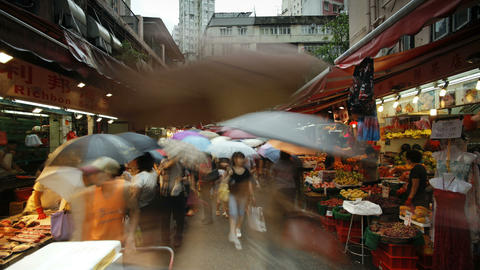 Shoppers browse the traditional Chinese Stalls in  Footage
