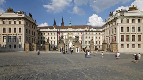 Prague Castle with St. Vitus Cathedral viewed from Footage