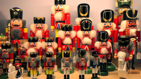 Christmas decorations display, Rothenburg ob der T Footage