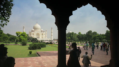 Taj Mahal, UNESCO World Heritage Site, Agra, Uttar stock footage