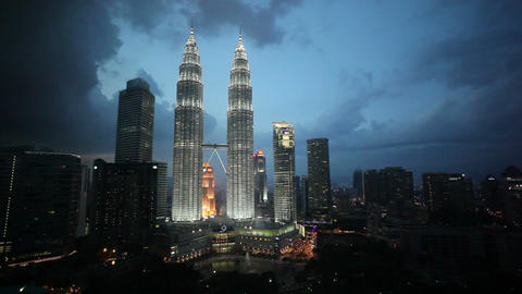 Kuala Lumpur City Centre Urban Development Which I stock footage