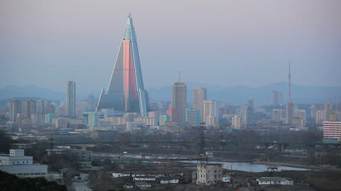 Pyongyang, Ryugyong Hotel, now an Iconic symbol of Footage
