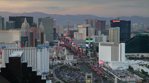 Elevated view of casinos on The Strip, Las Vegas,  Footage