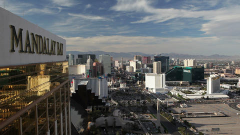 Las Vegas, Hotels and Casinos along the Strip, Nev Footage