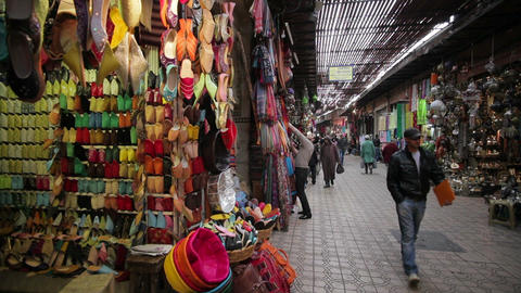 In the Souk, Marrakech, Morocco, North Africa, Afr Footage