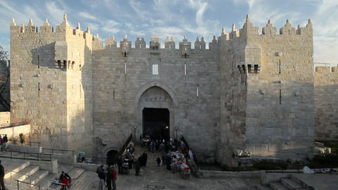 Jerusalem, The Old City, Damascus Gate, Middle Eas Footage