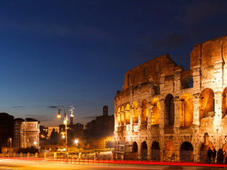 Colosseum At Sunset. Rome, Italy. Time Lapse. 320x stock footage