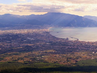 Pompei Valley, view from Mount Vesuvius. Italy. 32 Footage