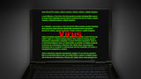Notebook Search Screen Virus stock footage