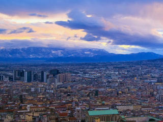 Dawn over Naples. Time Lapse. 320x240 Footage