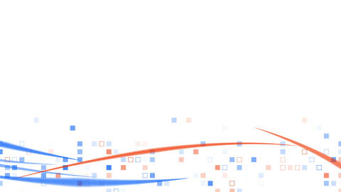 blue orange squares and lines loopable background Animation