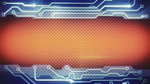 blue orange techno plate loopable background Animation