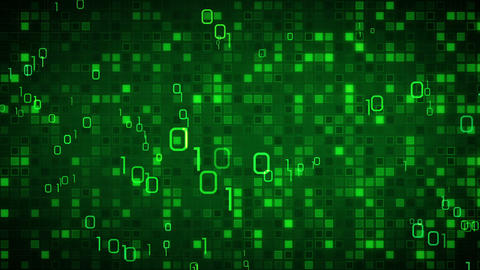 green information technology loopable background Animation