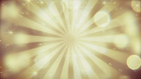 gold bokeh lights and rays loopable background Animation