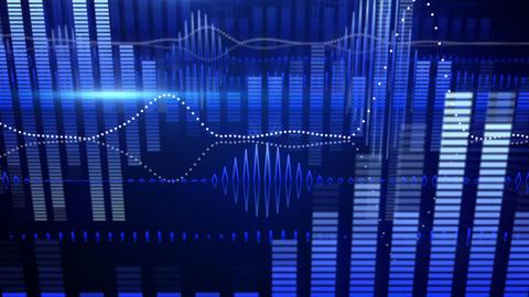 blue equalizer audio waveform loopable background Animation
