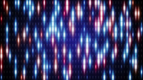 blue orange flashing lights loop background Animation