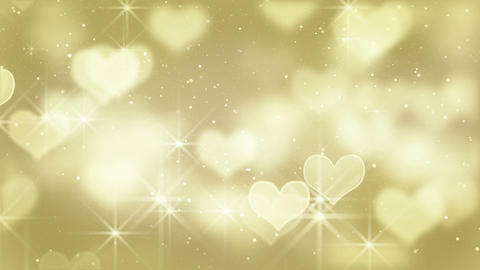 gold heart shapes loop background Animation