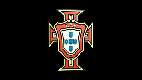 3D Portugal Team Badge Rotating Matte & Fill Animation