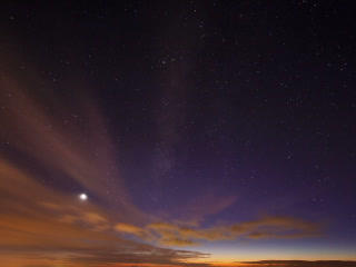 Sunset And The Milky Way. Time Lapse. 320x240 stock footage