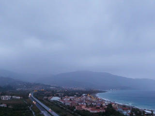 Dawn over the coast of Sicily. Italy. Time Lapse.  Footage