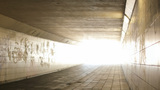 Light At The End Of A Urban Tunnel stock footage