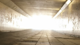 Light At The End Of The Tunnel Low Angle Right Pan stock footage