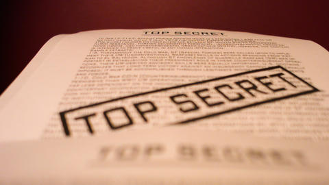 Top secret confidential documents Footage