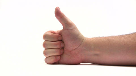 Gesturing - Thumbs Up stock footage