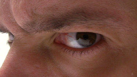 Eye Movement stock footage
