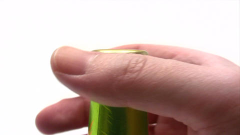 Opening a Beer Bottle Close-Up Footage