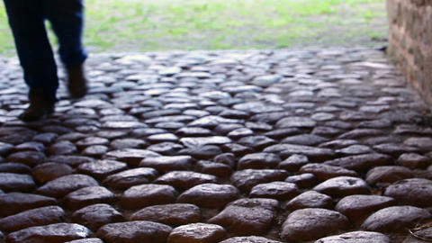 Road From Thousands Of Stones stock footage