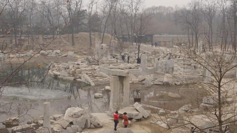 China Beijing Park Yuanmingyuan 20 Footage